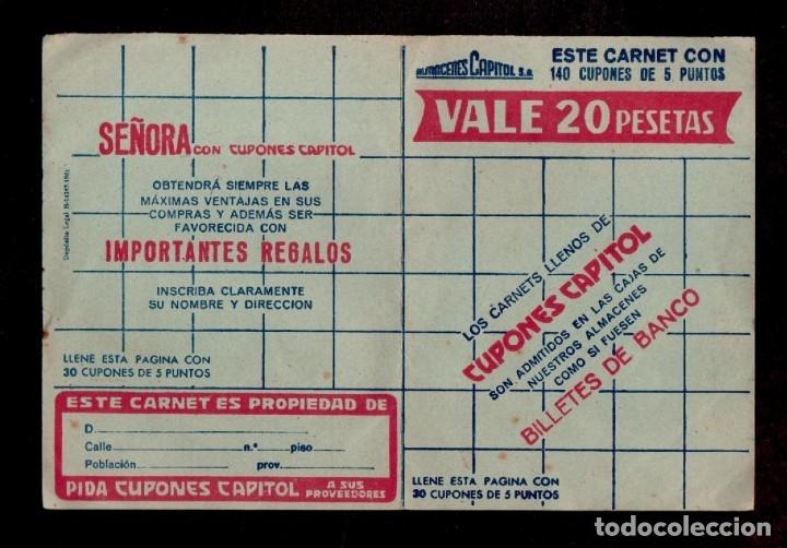 C15-5 ALMACENES CAPITOLIO CARNET COMPLETO CON 140 CUPONES DE CINCO PUNTOS COLOR VERDE SUELTOS.. (Sellos - España - Guerra Civil - Viñetas - Nuevos)