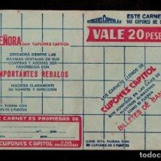 Sellos: C15-5 ALMACENES CAPITOLIO CARNET COMPLETO CON 140 CUPONES DE CINCO PUNTOS COLOR VERDE SUELTOS... Lote 173617479
