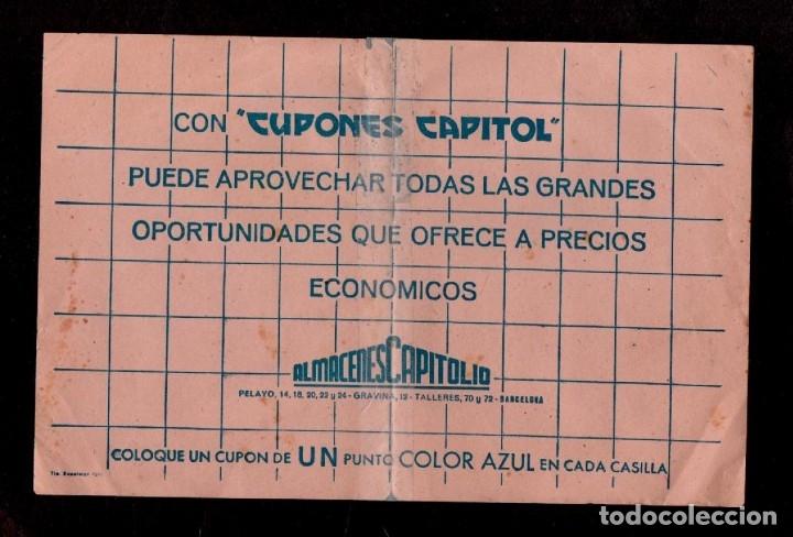 C15-5 ALMACENES CAPITOLIO CARNET CON 150 CUPONES DE UN PUNTO COLOR AZUL SUELTOS.. (Sellos - España - Guerra Civil - Viñetas - Nuevos)