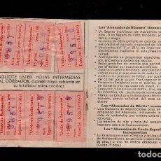 Sellos: E48 S.E.R. ( UNION DE RADIOYENTES ) RADIO MADRID 1958 CARNET CON 17 CUPONES..... Lote 173622919