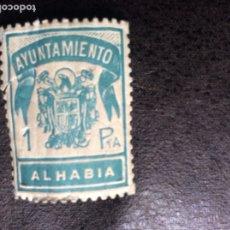Sellos: SELLO VIÑETA 1 PTA - AYUNTAMIENTO ALHABIA - ALMERIA. Lote 173790620