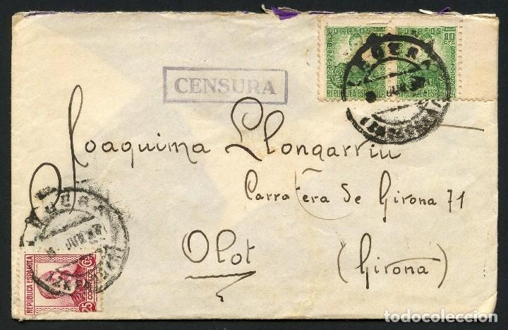 GUERRA CIVIL, SOBRE, EJERCITO REPUBLICANO, 25 DIV., 117 BRIGADA MIXTA, LÉCERA (Sellos - España - Guerra Civil - De 1.936 a 1.939 - Cartas)