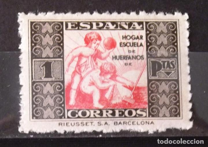 BENEFICENCIA, HUÉRFANOS CORREOS, 6, NUEVO, SIN CH. ALEGORÍA. (Sellos - España - Guerra Civil - Beneficencia)