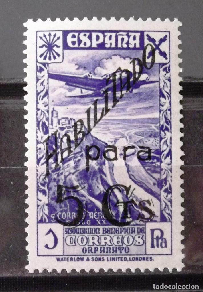 BENEFICENCIA, HUÉRFANOS CORREOS, 43, NUEVO, SIN CH. CORREO. (Sellos - España - Guerra Civil - Beneficencia)