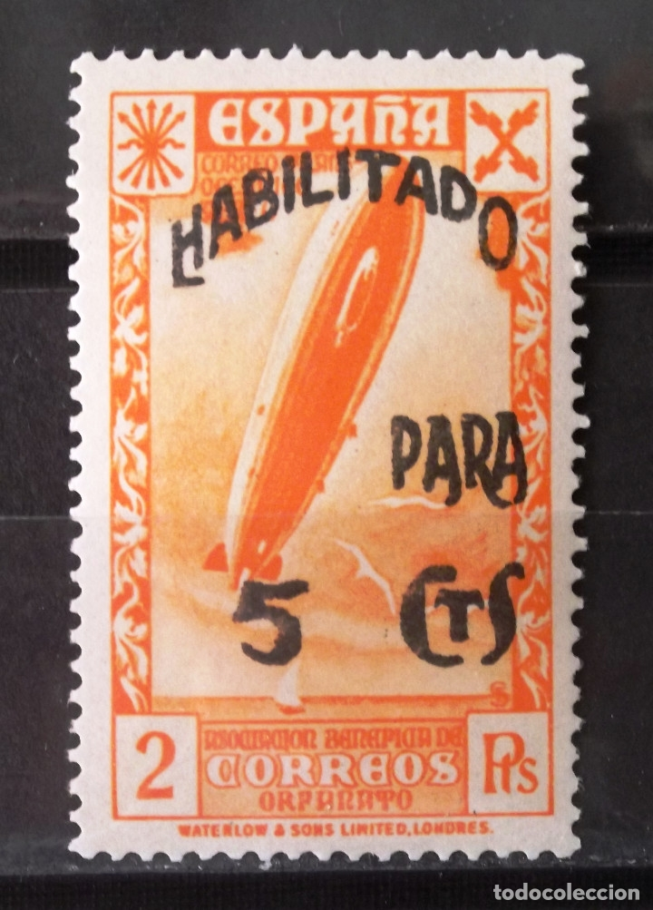 BENEFICENCIA, HUÉRFANOS CORREOS, 48, NUEVO, SIN CH. CORREO. (Sellos - España - Guerra Civil - Beneficencia)