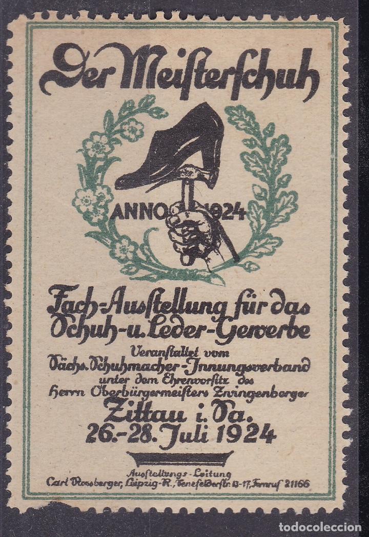 KK7-VIÑETA DER MEIFTERFCHUH 1924 * CON FIJASELLOS (Sellos - España - Guerra Civil - Viñetas - Nuevos)