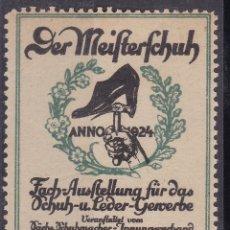 Sellos: KK7-VIÑETA DER MEIFTERFCHUH 1924 * CON FIJASELLOS. Lote 174111083