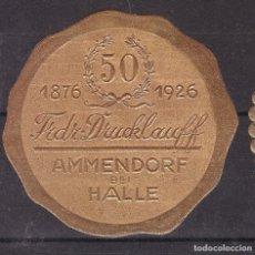 Sellos: KK7-VIÑETA 50 ANIVº AMMENDORF HALLE 1926 * CON FIJASELLOS. Lote 174111105