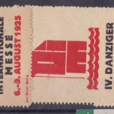 Sellos: KK7-VIÑETA IV DANZIGER INTERNATIONALE MESSE 1925 X 3 * CON FIJASELLOS. Lote 174111129