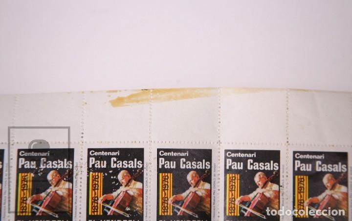 Sellos: Minipliego con 50 Viñetas Centenari Pau Casals. El Vendrell, 1876-1976 - Foto 3 - 174149709