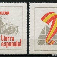 Sellos: VIÑETAS POLÍTICAS, GIBRALTAR, TIERRA ESPAÑOLA, 1969, (PRUEBAS DENTADAS). Lote 174180649