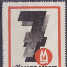 Sellos: KK7-VIÑETA KÖLNER MESSE 1927 * CON FIJASELLOS. Lote 174208394
