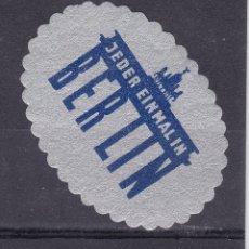Sellos: KK7-VIÑETA JEDER EINMAL IN BERLIN * CON FIJASELLOS. Lote 174208460
