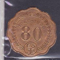 Sellos: KK7-VIÑETA 80 AÑOS B Ö JTP 1928 * CON FIJASELLOS. Lote 174208793