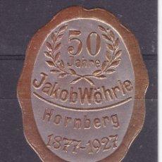Sellos: KK7-VIÑETA 50 AÑOS JAKOB WÖHRLE 1927 * CON FIJASELLOS. Lote 174213307