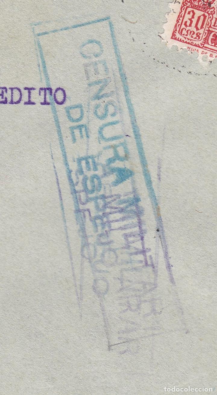 Sellos: F28-3-Guerra Civil. Carta ESPEJO Córdoba 1938. Local y Censura doble Azul / Violeta. Matasellos GIRO - Foto 4 - 174269183