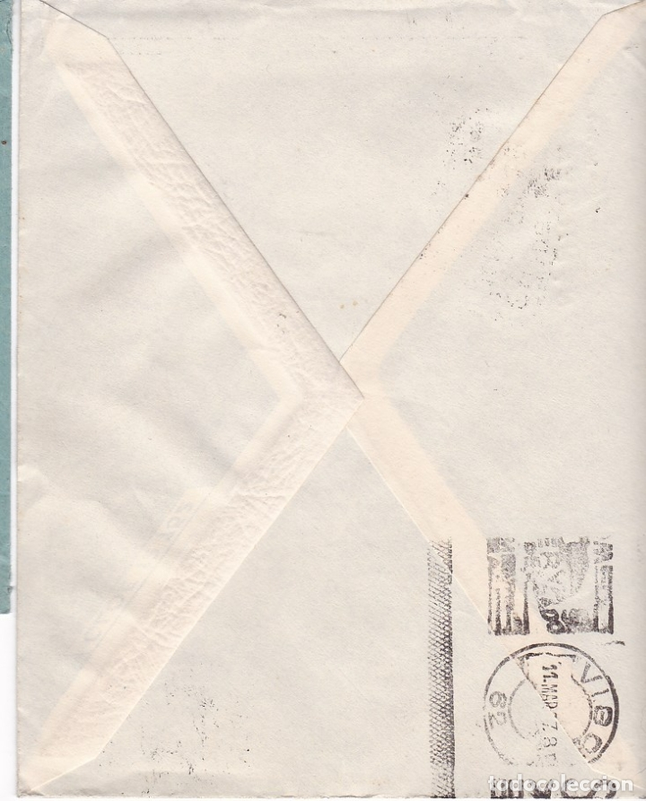 Sellos: F28-4-Guerra Civil. Carta LALIN Pontevedra 1937. Local.Censura. Matasellos Caja Postal LALIN - Foto 3 - 174270025