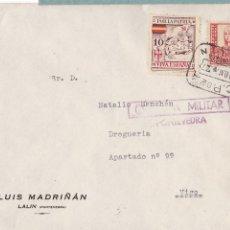 Sellos: F28-4-GUERRA CIVIL. CARTA LALIN PONTEVEDRA 1937. LOCAL.CENSURA. MATASELLOS CAJA POSTAL LALIN. Lote 174270025