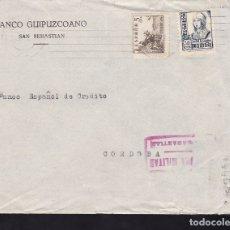 Sellos: F28-6-GUERRA CIVIL. CARTA SAN SEBASTIAN 1937. CENSURA Y FRENTES Y HOSPITALES . Lote 174272162