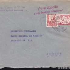 Sellos: F28-9-GUERRA CIVIL. CARTA ALCALA DE GUADAIRA SEVILLA 1937. LOCAL Y CENSURA.. Lote 174272748