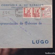 Sellos: F28-9-GUERRA CIVIL. CERTIFICADO FONSAGRADA LUGO 1937. LOCAL Y CENSURA.NO RESEÑADA ASI. Lote 174272769