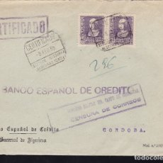 Sellos: F28-10-GUERRA CIVIL. CERTIFICADO ALGECIRAS CÁDIZ 1939. LOCAL Y CENSURA. Lote 174272782