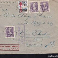 Sellos: F28-10-GUERRA CIVIL. CERTIFICADO VITORIA -FRANCIA 1938. TUBERCULOSOS. Lote 174272827