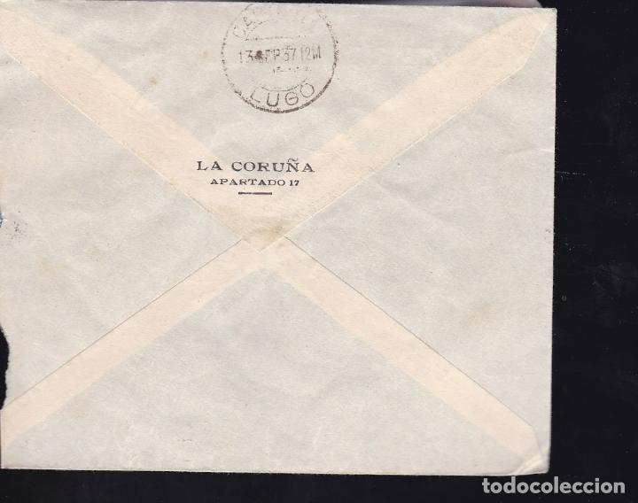 Sellos: F28-13-Guerra Civil.Carta Comercial Pirelli CORUÑA 1937.Local y Censura - Foto 2 - 174273160
