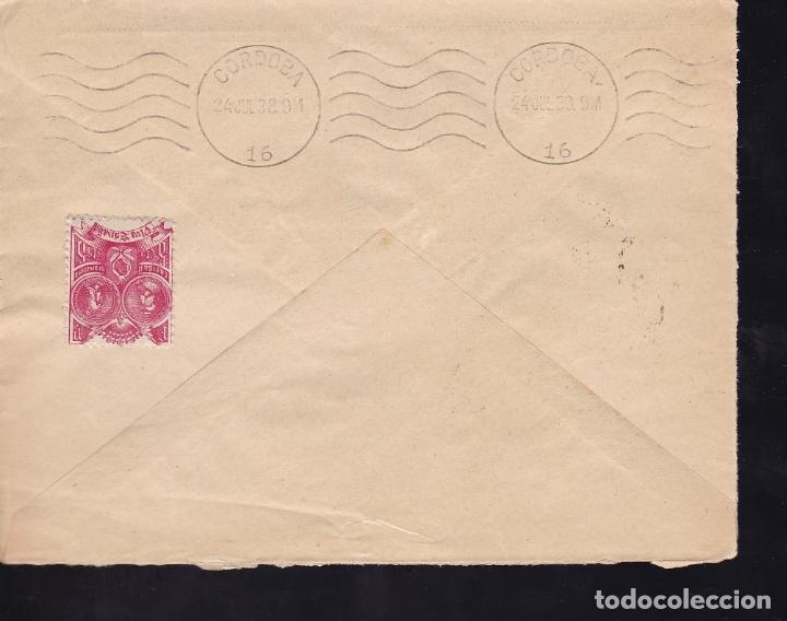 Sellos: F28-13-Guerra Civil.Carta GRANADA 1938.Local y Censura - Foto 2 - 174273184