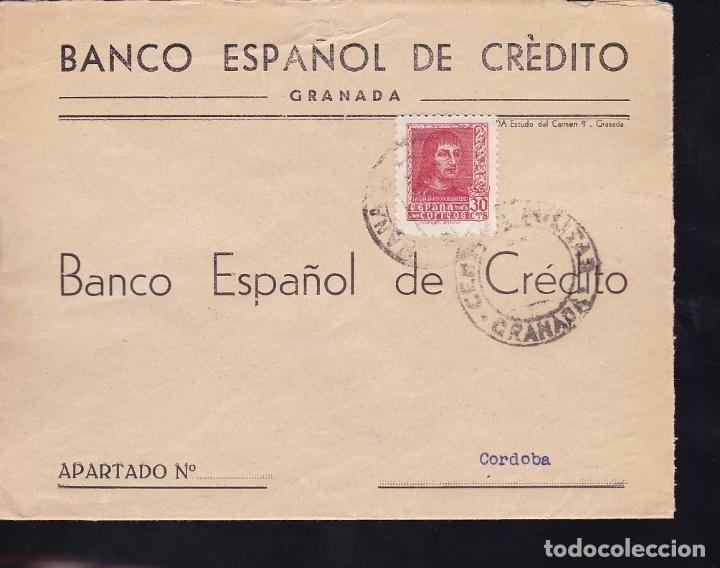 F28-13-GUERRA CIVIL.CARTA GRANADA 1938.LOCAL Y CENSURA (Sellos - España - Guerra Civil - De 1.936 a 1.939 - Cartas)