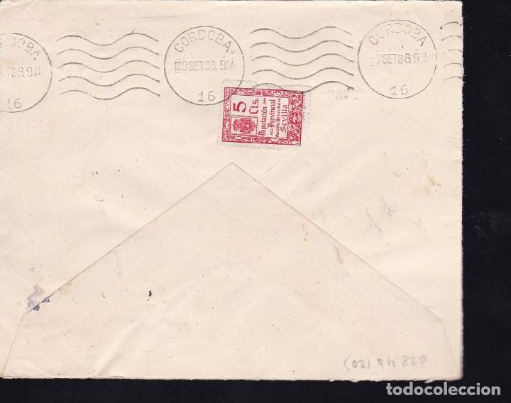 Sellos: F28-14-Guerra Civil.Carta OSUNA 1938. Local y Censura (lujo) - Foto 2 - 174273292