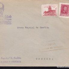 Sellos: F28-15-GUERRA CIVIL. CARTA GRANJA DE TORREHERMOSA BADAJOZ 1938. LOCAL Y CENSURA NEGRO (NO RESEÑADO). Lote 174273419