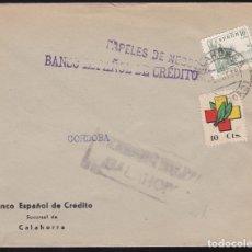 Sellos: F28-15-GUERRA CIVIL. CARTA CALAHORRA LOGROÑO 1938. FRENTES Y HOSPITALES Y CENSURA . Lote 174273454