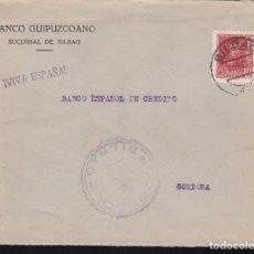 Sellos: F28-17-GUERRA CIVIL. CARTA BILBAO-CORDOBA 1938. CENSURA Y LOCAL . Lote 174273579