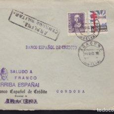 Sellos: F28-17-GUERRA CIVIL. CARTA ARACENA HUELVA 1938. TUBERCULOSOS Y CENSURA . Lote 174273612