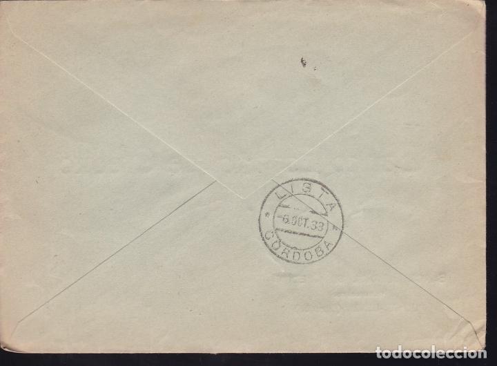 Sellos: F28-18-Guerra Civil. Certificado PUENTE-GENIL Córdoba 1938. Censura - Foto 2 - 174273654