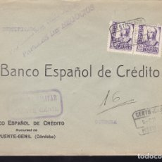 Sellos: F28-18-GUERRA CIVIL. CERTIFICADO PUENTE-GENIL CÓRDOBA 1938. CENSURA . Lote 174273654