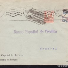 Sellos: F28-18-GUERRA CIVIL. CARTA ZARAGOZA 1938. CENSURA Y TUBERCULOSOS. Lote 174273673