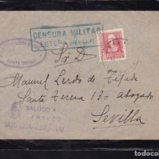 Sellos: F28-18-GUERRA CIVIL. CARTA ESTEPA SEVILLA 1939. CENSURA Y LOCAL. Lote 174273682