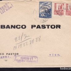 Sellos: F28-19-GUERRA CIVIL. CARTA CARBALLO CORUÑA 1938. CENSURA CORUÑA Y LOCAL. Lote 174273688