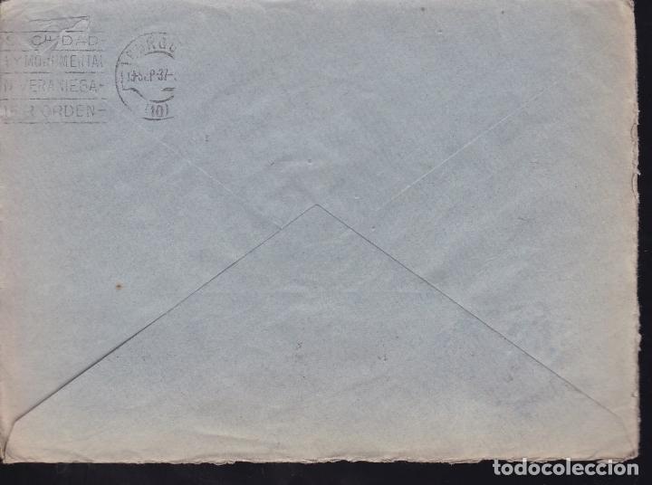 Sellos: F28-19-Guerra Civil. Carta SEVILLA 1937. Censura y Local - Foto 2 - 174273690