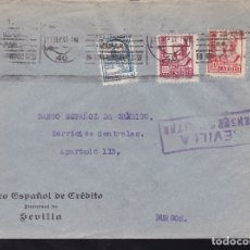 Sellos: F28-19-GUERRA CIVIL. CARTA SEVILLA 1937. CENSURA Y LOCAL. Lote 174273690