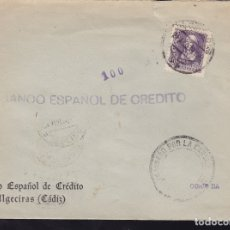 Sellos: F28-19-GUERRA CIVIL. CARTA ALGECIRAS CÁDIZ 1939. CENSURA Y LOCAL. Lote 174273725