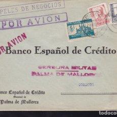 Sellos: F28-20-GUERRA CIVIL.CARTA PALMA DE MALLORCA 1938. LOCAL Y CENSURA . Lote 174279552