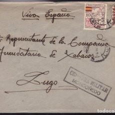 Sellos: F28-20-GUERRA CIVIL.CARTA MONDOÑEDO LUGO 1937. LOCAL Y CENSURA (NO RESEÑADA ASÍ) . Lote 174279720