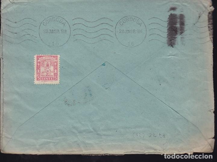 Sellos: F28-20-Guerra Civil.Carta PALENCIA 1938 . Local y Censura - Foto 2 - 174280093