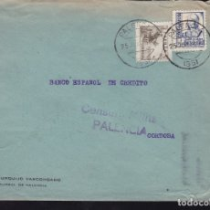 Sellos: F28-20-GUERRA CIVIL.CARTA PALENCIA 1938 . LOCAL Y CENSURA . Lote 174280093