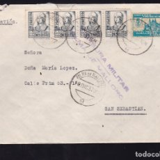 Sellos: F28-21-GUERRA CIVIL.CARTA PALMA MALLORCA 1937 . LOCAL Y CENSURA . Lote 174280222