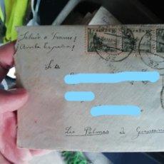 Sellos: ANTIGUA CARTA CENSURA MILITAR PAMPLONA GUERRA CIVIL SELLO EL CID - CANARIAS 1939. Lote 174417677