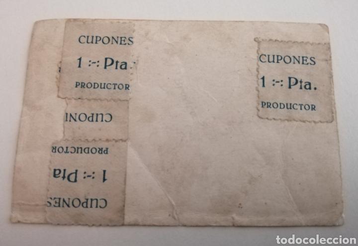 Sellos: Cupones productor. 1 peseta. 4 cupones adheridos a una fotografía. Tal cual. - Foto 2 - 174596764